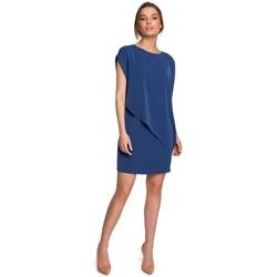 Oblečenie Ženy Krátke šaty Style S262 Vrstvené šaty - modré