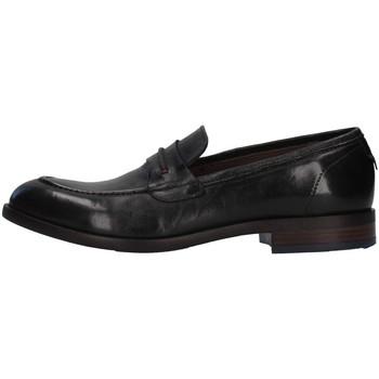 Topánky Muži Mokasíny Re Blu' 7766 BLACK