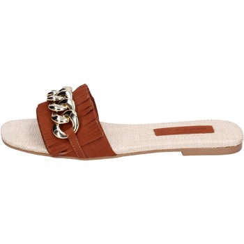 Topánky Ženy Šľapky Miss Unique Sandále BH145 Hnedá