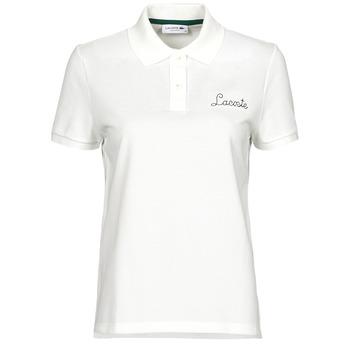 Oblečenie Ženy Polokošele s krátkym rukávom Lacoste PF7251 Biela