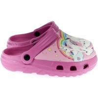 Topánky Dievčatá Nazuvky John-C Detské tmavo-ružové crocsy ALONG HOSIA cyklamenová