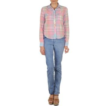 Oblečenie Ženy Rovné džínsy Gant DANA SPRAY COLORED DENIM PANTS Modrá