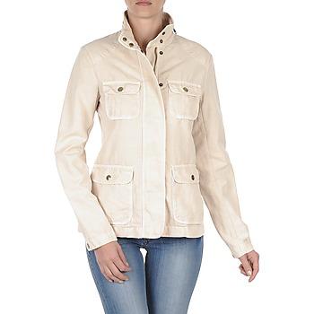 Oblečenie Ženy Bundy  Gant COTTON LINEN 4PKT JACKET Krémová