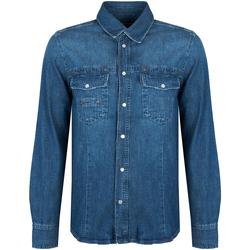 Oblečenie Muži Košele s dlhým rukávom Bikkembergs  Modrá