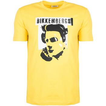 Oblečenie Muži Tričká s krátkym rukávom Bikkembergs  Žltá
