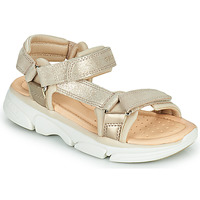 Topánky Dievčatá Sandále Geox J SANDAL LUNARE GIRL Béžová