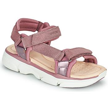 Topánky Dievčatá Sandále Geox J SANDAL LUNARE GIRL Ružová