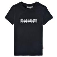 Oblečenie Chlapci Tričká s krátkym rukávom Napapijri S-BOX SS Čierna