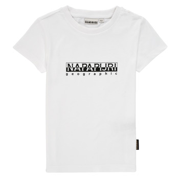 Oblečenie Chlapci Tričká s krátkym rukávom Napapijri S-BOX SS Biela