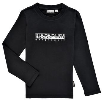 Oblečenie Chlapci Tričká s dlhým rukávom Napapijri S-BOX LS Čierna