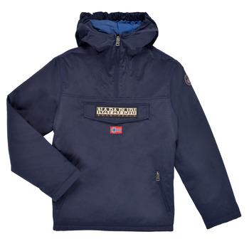 Oblečenie Deti Parky Napapijri RAINFOREST POCKET Námornícka modrá