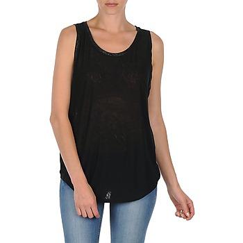 Oblečenie Ženy Tielka a tričká bez rukávov Majestic MANON Čierna