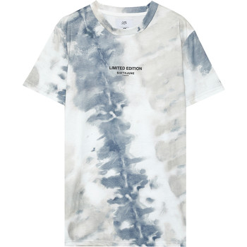 Oblečenie Muži Tričká s krátkym rukávom Sixth June T-shirt  tie dye beige