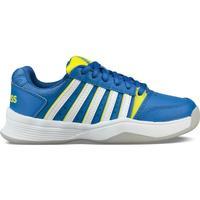 Topánky Deti Tenisová obuv K-Swiss Chaussures enfant  ks tfw court smash bleu foncé/jaune/blanc