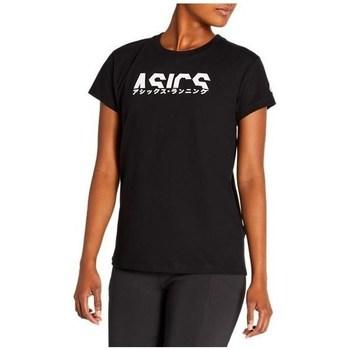 Oblečenie Ženy Tričká s krátkym rukávom Asics Katakana Graphic Tee Čierna