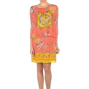Oblečenie Ženy Krátke šaty Derhy ACCORDABLE Ružová / žltá