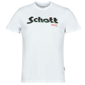Oblečenie Muži Tričká s krátkym rukávom Schott TSLOGOELEK Biela