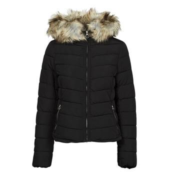Oblečenie Ženy Vyteplené bundy Only ONLNEWELLAN Čierna