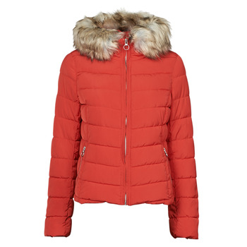 Oblečenie Ženy Vyteplené bundy Only ONLNEWELLAN Červená