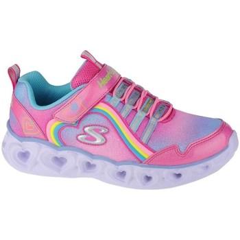 Topánky Dievčatá Fitness Skechers Heart Lights Rainbow Lux Ružová