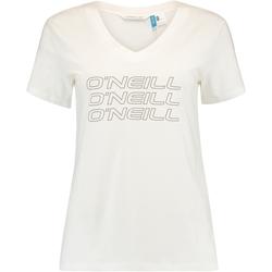 Oblečenie Ženy Tričká s krátkym rukávom O'neill Triple Stack Biely