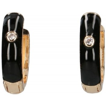 Hodinky & Bižutéria Ženy Náušnice Luna Collection 57413 Čierna