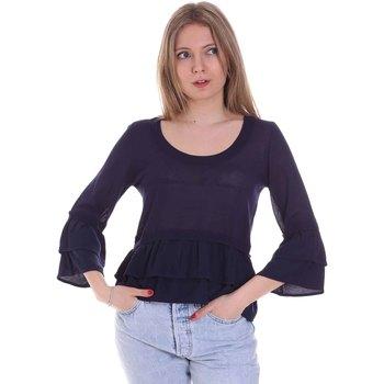 Oblečenie Ženy Blúzky Café Noir JM6150 Modrá