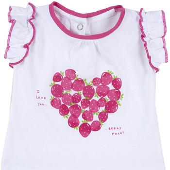 Oblečenie Dievčatá Tričká s krátkym rukávom Chicco 09067088000000 Biely