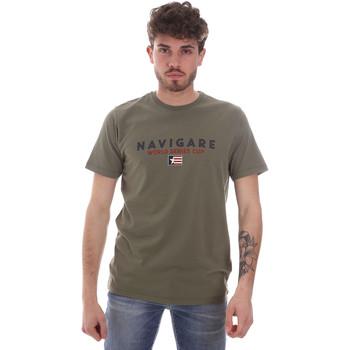 Oblečenie Muži Tričká s krátkym rukávom Navigare NV31139 Zelená