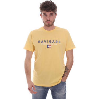 Oblečenie Muži Tričká s krátkym rukávom Navigare NV31139 žltá