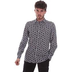Oblečenie Muži Košele s dlhým rukávom Antony Morato MMSL00614 FA430480 čierna