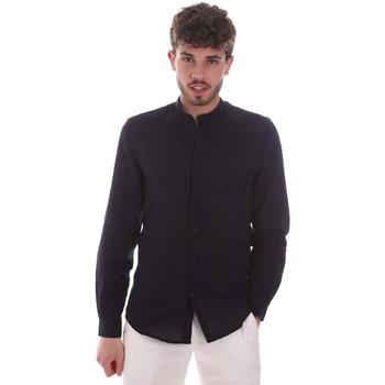 Oblečenie Muži Košele s dlhým rukávom Antony Morato MMSL00631 FA400074 Modrá