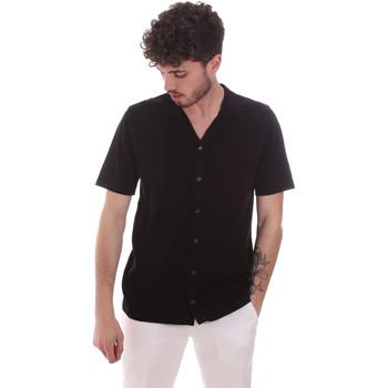 Oblečenie Muži Košele s krátkym rukávom Antony Morato MMSW01183 YA100063 čierna