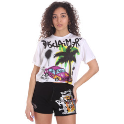Oblečenie Ženy Šortky a bermudy Disclaimer 21EDS50639 Biely