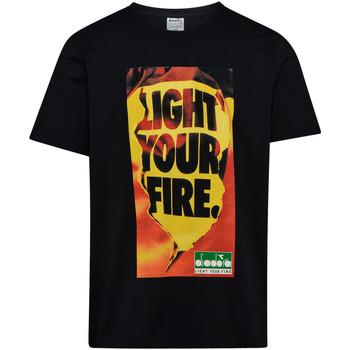 Oblečenie Muži Tričká s krátkym rukávom Diadora 502175837 čierna