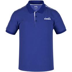 Oblečenie Muži Polokošele s krátkym rukávom Diadora 102175672 Modrá