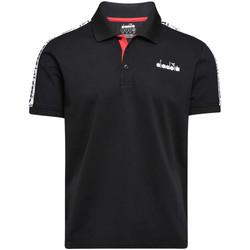 Oblečenie Muži Polokošele s krátkym rukávom Diadora 102175672 čierna