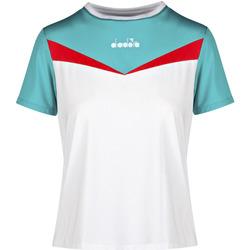 Oblečenie Ženy Tričká s krátkym rukávom Diadora 102175659 Biely