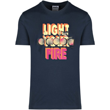 Oblečenie Muži Tričká s krátkym rukávom Diadora 502175837 Modrá