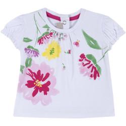 Oblečenie Dievčatá Tričká s krátkym rukávom Chicco 09067270000000 Biely