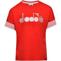 Oblečenie Deti Tričká s krátkym rukávom Diadora 102175914 Červená