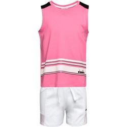 Oblečenie Deti Komplety a súpravy Diadora 102175915 Ružová