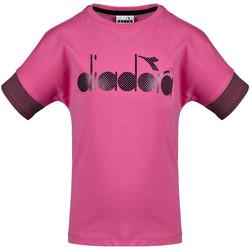 Oblečenie Deti Tričká s krátkym rukávom Diadora 102175914 Ružová
