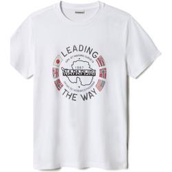 Oblečenie Muži Tričká s krátkym rukávom Napapijri NP0A4F6P Biely