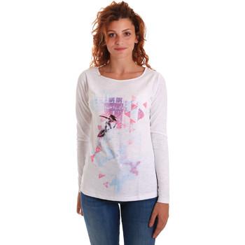 Oblečenie Ženy Tričká s dlhým rukávom Key Up 5G68S 0001 Biely