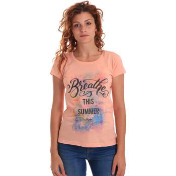 Oblečenie Ženy Tričká s krátkym rukávom Key Up 5D59S 0001 Oranžová