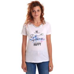 Oblečenie Ženy Tričká s krátkym rukávom Key Up 5G63S 0001 Biely