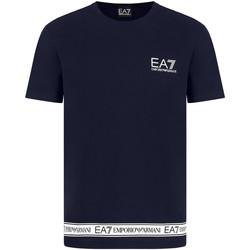 Oblečenie Muži Tričká s krátkym rukávom Ea7 Emporio Armani 3KPT05 PJ03Z Modrá
