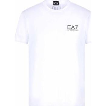 Oblečenie Muži Tričká s krátkym rukávom Ea7 Emporio Armani 3KPT06 PJ03Z Biely