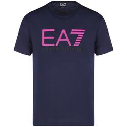 Oblečenie Muži Tričká s krátkym rukávom Ea7 Emporio Armani 3KPT78 PJACZ Modrá